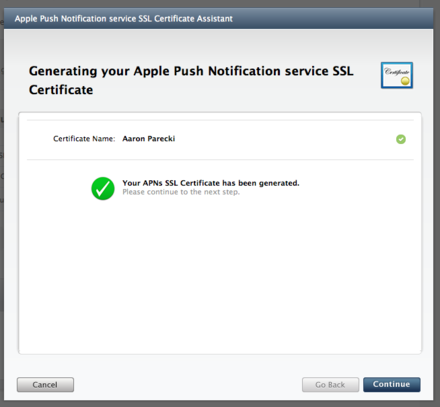 Your-APNs-SSL-Certificate-has-been-generated